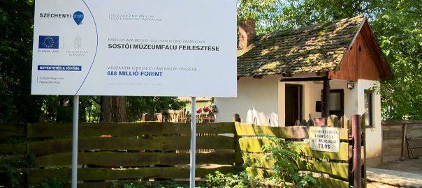 Több mint 700 millió forintból újul meg a Sóstói Múzeumfalu bejárata.