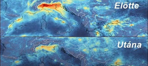 Megtisztult a levegő Észak-Olaszországban.