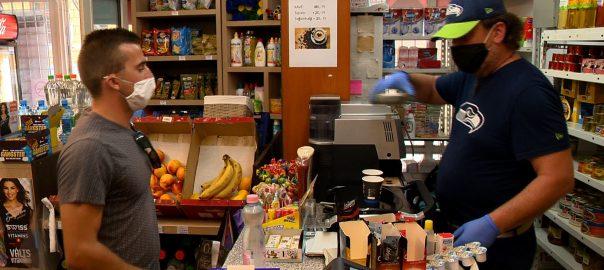 Maszkviselés a boltokban