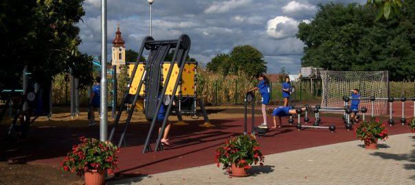 Sportudvar Geszteréden a helyi és környékbeli gyermekek számára