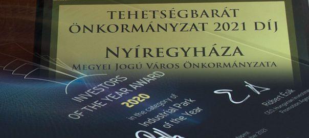Díjat kapott Nyíregyháza Megyei Jogú Város Önkormányzata