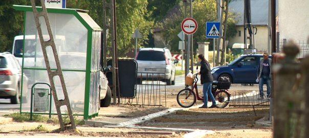 Október végére készülhet el a belterületi kerékpárút Nyírbogáton